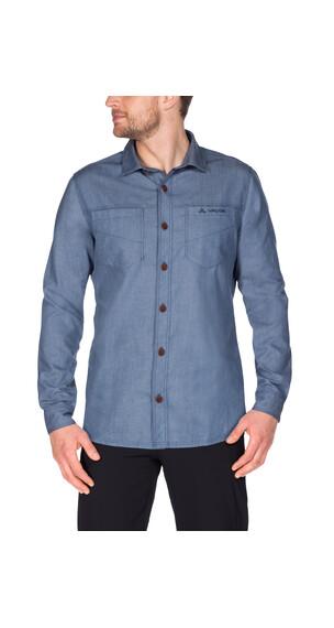 VAUDE Belluno overhemd en blouse lange mouwen Heren blauw